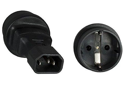 USV Adapter: Schutzkontaktbuchse auf Kaltgerätestecker. Stromadapter. Schutzkontaktadapter. C14