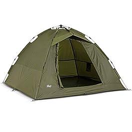 Lucx Tente de pêche à la Carpe pour 1-2 Personnes Vert Olive 950 x 190 x 190 cm