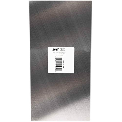 K&S Precision Metals 83072 Aluminum Sheet, 0.125' Thickness x 6' Width x 12' Length, 1 pc, Made in USA