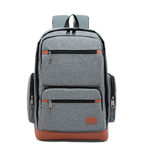 SHRAY Backpacks/Sleeves Large Capacity Outdoor Leisure Breathable Multi-Function Notebook Tablet Backpack (Color : Blue) Grey