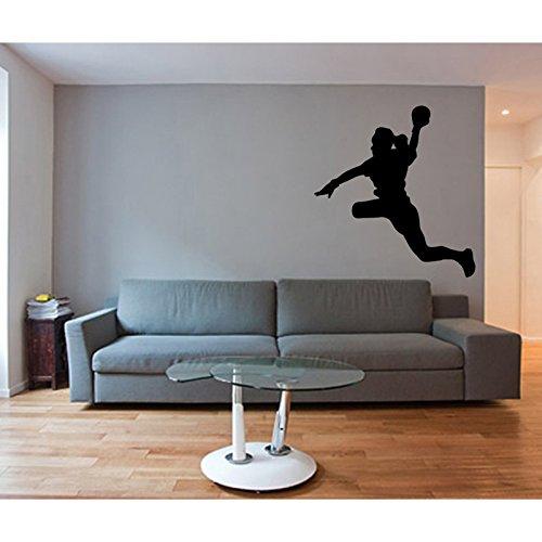 TATOUTEX Sticker Handball – Silber, L 20 cm x H 21 cm
