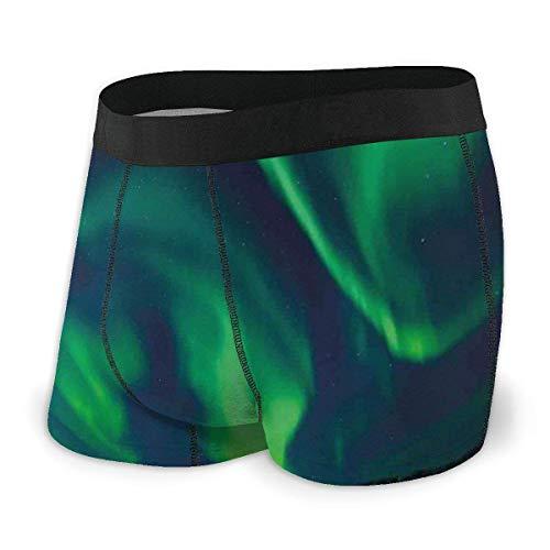 Calzoncillos Boxer para Hombres, Cielo psicodélico en Imagen de energía Radiante de Camping nórdico tamaño XL