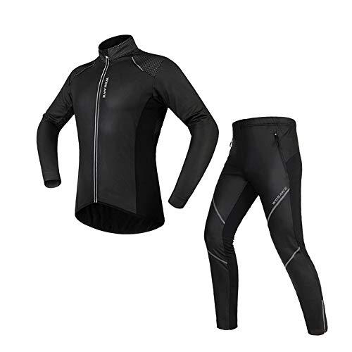Conjunto de Ropa de Ciclismo Conjunto de ropa de ciclismo para hombre Ropa deportiva Traje de bicicleta Bicicleta Primavera Otoño Manga larga al aire libre Jersey + Pantalones Transpirable Secado rápi