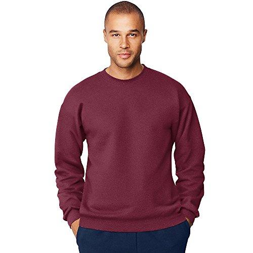 Hanes Men's Ultimate Cotton Heavyweight Crewneck Sweatshirt_Maroon_3XL