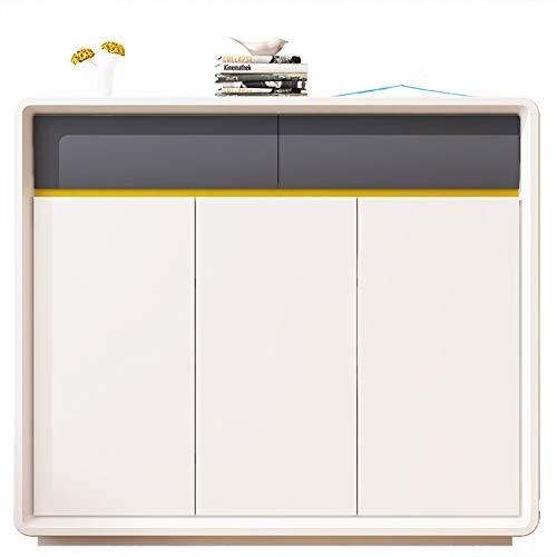 LIUGJ - Zapatero Moderno y fácil de Pintar, Gran Capacidad, con Puerta de cajón, Zapatero