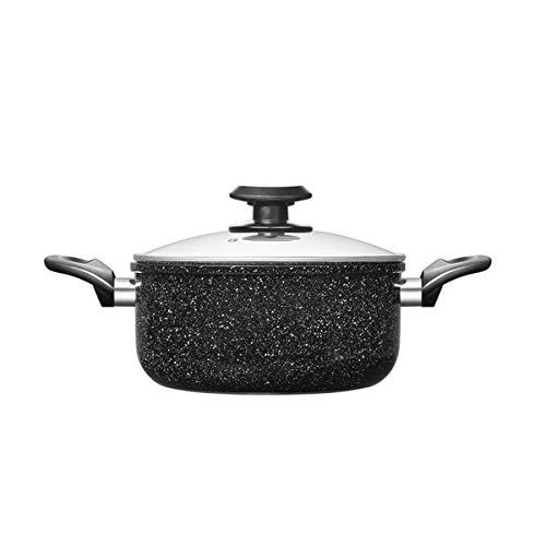 LULUDP Casseroles et poëles Casserole à soupe casserole à ragoût Maifan Stone Cookware Épaissir Pâtes Ménage Poêle à gaz Cuisinière Appliquer Ustensile en métal antiadhésif Casserole avec couvercle Po