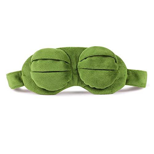 Pluche Trieste Kikker Dieren Zachte Pluche 3D Oogmasker, Cover Pepe Pluche Slaapmasker, Schattige Anime Cadeau Voor Kinderen Baby 20X10Cm