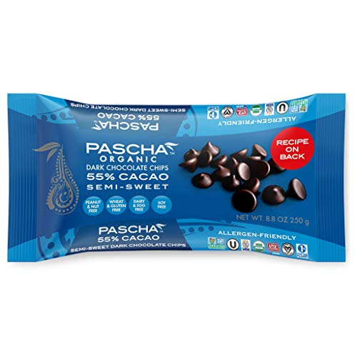 Pascha Organic Semi Sweet Chocolate Baking Chips, 55% Cacao, UTZ, Gluten Free & Non GMO, 8.8 Ounce, Pack of 6