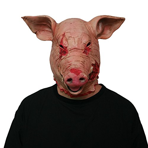 Halloween Scary Mask Horror Mask Masquerade Pig Head Mask Animal...