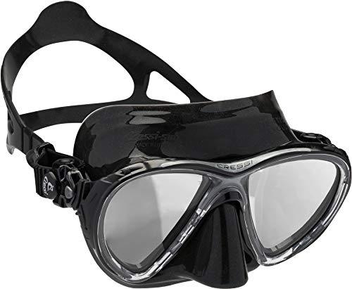 Cressi Unisex - Erwachsene Taucherbrille Big Eyes Evolution, schwarz/HD verspiegelten gläsern, DS336950
