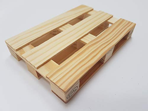 miniPallet - Palé de madera de euro - 5 paletas de posavasos de madera, ayudantes en...