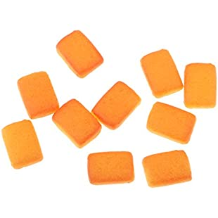 Fenteer Dolls House Miniatures 10pcs Resin Square Biscuits Food & Groceries 112 Scale