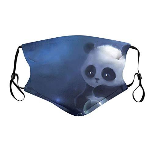 Unisex reutilizable protección facial lavable algodón 3D moda impresión a prueba de polvo y transpirable