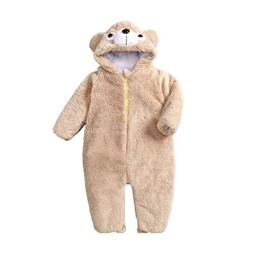 Disfraces para niños Traje de Halloween niño Pijamas Ciervos Niño Niña Animal de una Sola Pieza, otoño Invierno de la Franela con Capucha Romper Pijamas de Animales para niños (Size : 60-70)