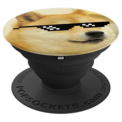 Shiba Inu Dog Doge Deal With It Meme Funny Internet Joke PopSockets Grip and Stand for Phones and Tablets