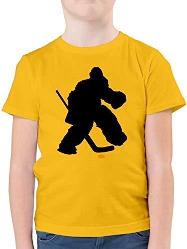 Sport Kind - Eishockeytorwart Towart Eishockey - 128 (7/8 Jahre) - Gelb - Eishockey Torwart - F130K - Kinder Tshirts und T-Shirt für Jungen