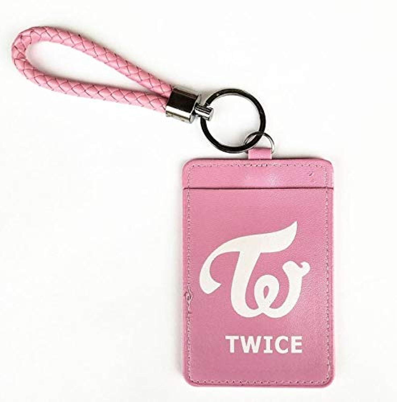 TWICE 定期入れ ピンク ホワイトロゴ