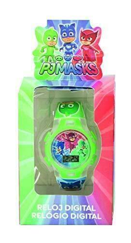 PJ Masks Unisex– Kinder Digital Automatisch Uhr mit Kunststoff Armband 17026