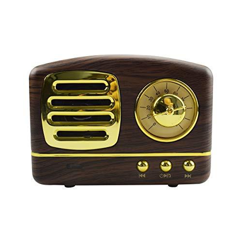 Retro Bluetooth Lautsprecher, Vintage Radio Stil Retro Bluetooth Lautsprecher, klassischem Stil Bluetooth Musikbox Kabelloser Speaker Laute Lautstärke,Bluetooth 4.2, MP3-Player(Holzmaserung)