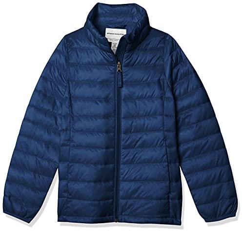 Amazon Essentials Girls' Lightweight Water-Resistant Packable Puffer Jacket Chaqueta, Azul (Navy), X-Large