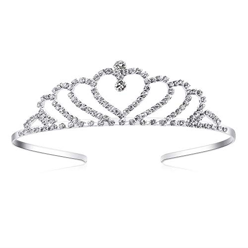 Lovely Shop Girls Heart Rhinestone Tiara Crown for Wedding Prom Birthday Prinecess Party