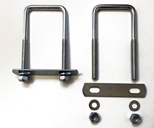 2x U-Bügel - groß - Halterungen, Befestigungssatz für Deichselbox, Halter für Staubox, Werkzeugkasten, Montagesatz