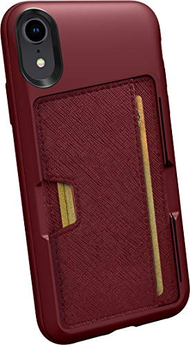 Smartish iPhone X/XS Wallet Case - Wallet Slayer Vol. 2 [Slim Protective Kickstand] Credit Card Holder for Apple iPhone 10s/10 (Silk) - Red Rover Red Rover