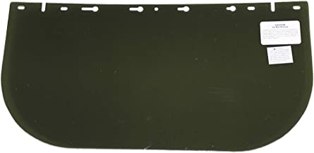 """Sellstrom Replacement Window for 390 Series Safety Face Shields, 8""""x16""""x0.040"""", Uncoated Acetate, Dark Green Tint, S35120"""