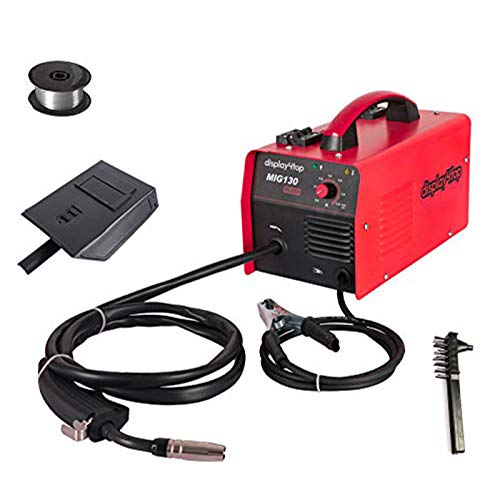 Display4top Portable No Gas MIG 130 PLUS Welder Flux Core Wire Automatic Feed Welding Machine,DIY...