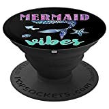 Mermaid Vibes Funny Mermaid Tail Design Gift For Women Girl PopSockets Supporto e Impugnatura per Smartphone e Tablet