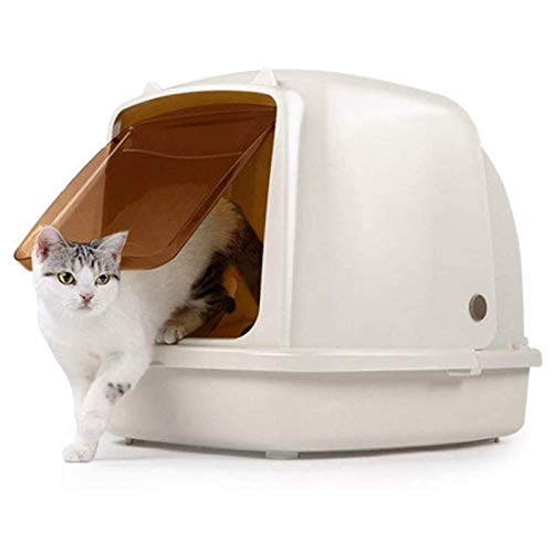Litter Boxes Bandeja de Arena para Gatos Grande, Cerrada Grandes Inodoros para Gatos Caja de Arena Abatible Orinal Arena para Gatos Inodoro con Tapa Desodorante Apto para Todos los Gatos