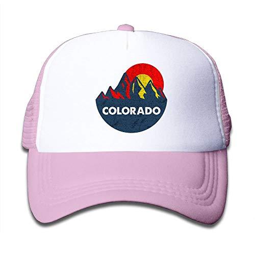 Fashion boutique clothing Colorado Flag Mountain Peak Retro Child Baby Kid Adjustable Trucker Hat Summer Baseball Cap