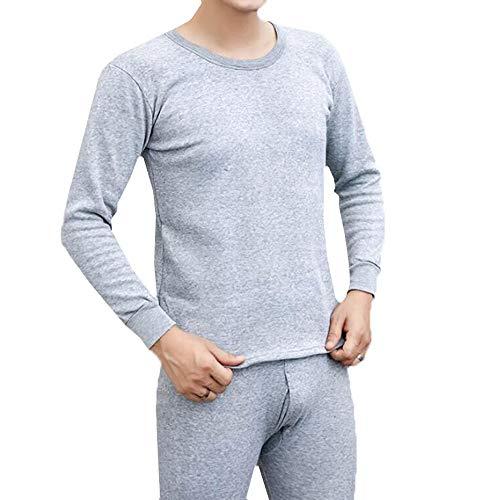 ELECTRI sous-vêtements Thermiques Homme Chaleur Extrême Laine Polaire Double Épaisseur - Ultra Chaud - Haut Maillot de Corps Pantalon Bas Hiver Ski Montagne - Noir (Haut+pantalon) - M