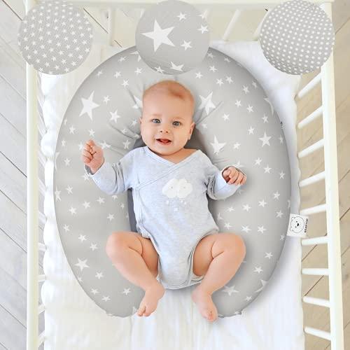 Bequemes Stillkissen von BEARTOP   180cm lang  Schwangerschaftskissen zum stillen, schlafen, lagern usw.   Bezug aus 100% Baumwolle   hochwertige Füllung  Zufriedenheitsgarantie (3 Jahre)*