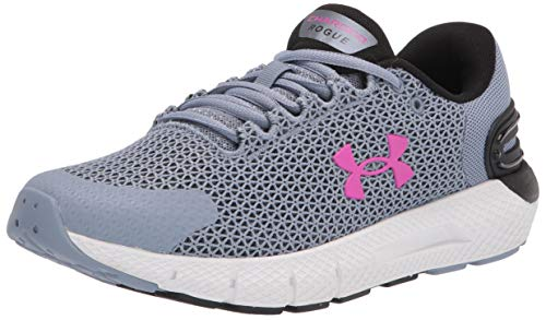 Under Armour womens Charged Rogue 2.5 Running Shoe, Washed Blue (400 White, 9.5 US