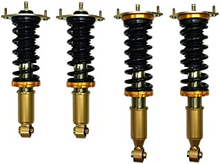 Yonaka Compatible with 1989-1998 Mazda Miata MX5 MX-5 Spec 2 Full Coilovers Adjustable Dampening Suspension Shocks Springs Struts
