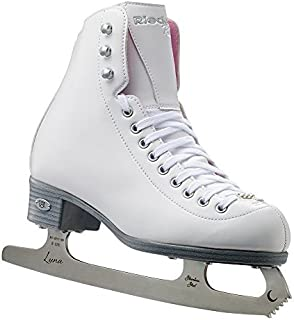 Riedell Skates - 14 Pearl Jr. - Youth Recreational Ice Figure Skates with Steel Luna Blade for Girls