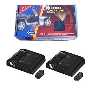 2Pcs Car Door Lights Logo Projector Wireless Car Door Led Projector Lights Welcome Step Side Lights