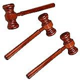 TOYANDONA 3 Unids Juez Martillo Juguete Mini Martillo de Madera Martillo Juguete Juez Subasta Venta Martillos para Cosplay Niños
