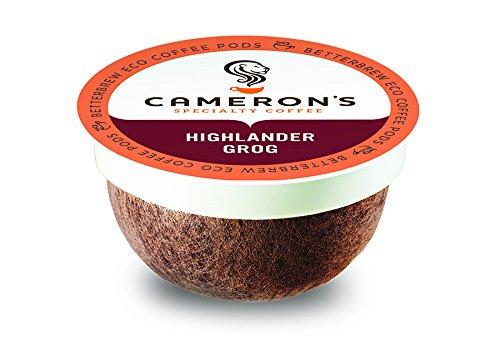 Cameron's Coffee Single Serve Pods, Flavored, Highlander Grog, 12 Count (Pack of 6)