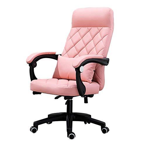 N/Z Daily Equipment Chair Computerstuhl Hochlehner Pu-Leder-Computertischstuhl mit Lordosenstütze Höhenverstellbar Verstellbarer ergonomischer Rennstuhl für Büro-Besprechungsraum Bernstein