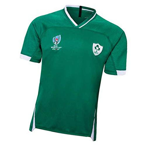 Camiseta de Rugby 2019 Copa Mundial de Japón Irlanda Camiseta de fútbol Local y visitante Sudadera de Manga Corta Adecuado para Estudiantes Niños Adultos Buen partido-green1-M