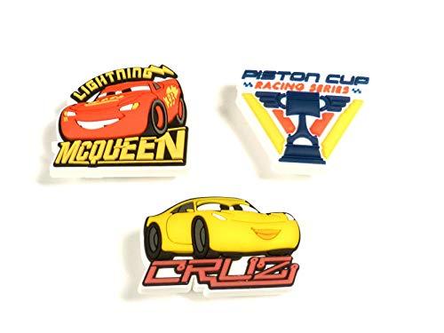 crocs Cars 3 3-Pack Schuhanhänger, Mehrfarbig (-), Einheitsgröße