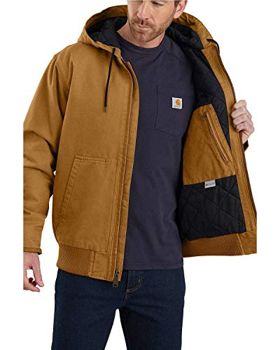 Carhartt Men's Active Jacket J130 (Regular and Big & Tall Sizes), Brown, X-Large