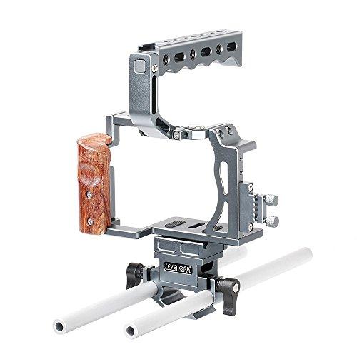 Moniss SK-A7C1 Professional Video DSLR Camera Cage Kit com Top Handle Grip Shoe Mount Hastes 15mm Compatível com So-ny A7 / A7S / A7R / A7 II / A7S II / A7R II