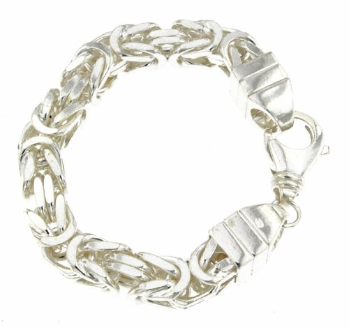 Königsarmband 925 Silber 10 mm 27 cm Silber-Armband Damen Herren-Armband Herren-Schmuck ab Fabrik tendenze Italy D-BZ10-27v