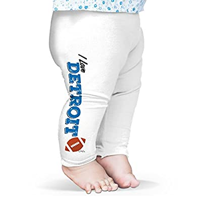 Twisted Envy Baby I Love Detroit American Football Leggings Trousers 3-6 Months White
