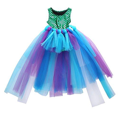 2 stks Kids Baby Meisje Jurk Zeemeermin Bodysuit+Hademade Rokken Outfits Set