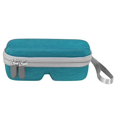 precauti Funda rígida para gafas de sol con cremallera, funda protectora portátil de gran capacidad para mujeres y hombres