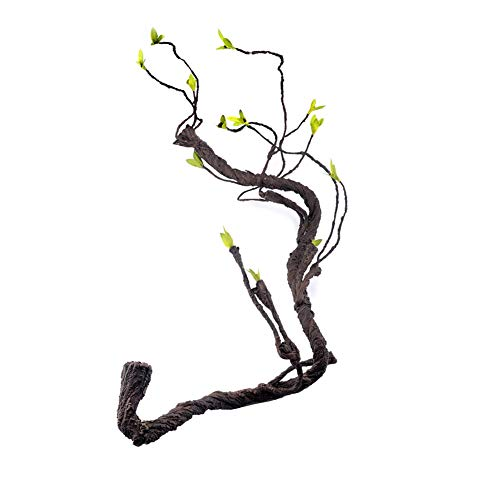FJROnline Rebtipet Künstliche Eidechsen, Kletterzweig, Haustier-Lebensraum, Dekoration, Dschungel, Rattan für Eidechsen, Frösche